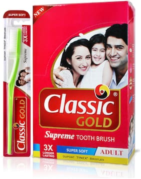 Classic Gold Supreme Super Soft Toothbrush (Pack of 12)