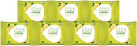 Clea Cleansing & Makeup Remover Wipes Lemon & Tulsi (8 Wipes per pack) Pack of 7
