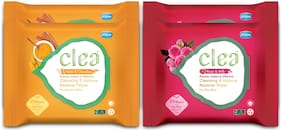 CLEA Cleansing & Makeup Remover Wipes (Set Of 2 Rose & Milk 25 pcs Each), (Set of 2 Haldi & chandan 25 pcs Each) Pack of 4
