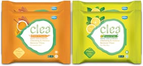 CLEA Cleansing & Makeup Remover Wipes (Set Of 2 Lemon & Tulsi 25 pcs Each), (Set of 2 Haldi & chandan 25 pcs Each) Pack of 4
