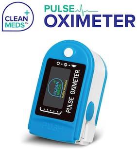 CLEAN MEDS Finger Tip Blue Oximeter Digital Pulse Reader with Color Display Water Resistant Pulse Oximeter Pulse Oximeter (PacK Of 1)