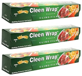 Cleen Wrap cling film 30 m Pack of 3 (30x3=90 m) Guaranteed