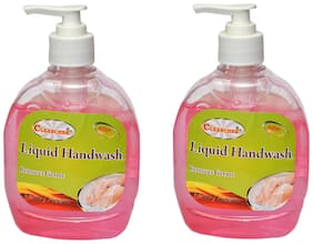 CLEANCHEK Liquid Hand Wash 300ml Floral (Pack of 2) (With 1 Refill pack) 600 ml