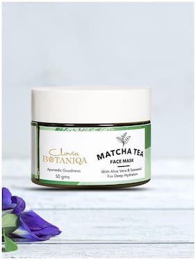 Clovia Botaniqa Matcha Green Tea Face Mask with Natural Formula with Aloe Vera & Seaweed - 50 gm