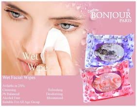 Coat Me Bonjour Paris Refreshing Wet Facial Wipes - Lavender And Rose