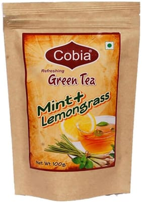 Cobia Green Tea(Mint + Lemongrass) 100 g Pouch)