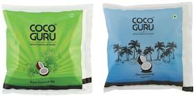 Cocoguru Coconut Oil - Pouch 500 ml (Roasted + Cold Press Combo)