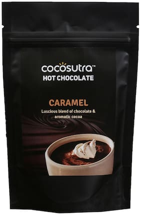 COCOSUTRA Hot Chocolate Blend - Caramel- 100 g (Pack of 2)