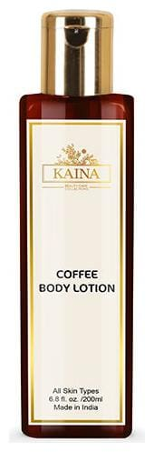 Kaina Coffee Body Lotion   Deeply Moisturizes, Ultra-Light on Skin  Enriched with Cocoa Extracts   Organic Skincare   200 ml