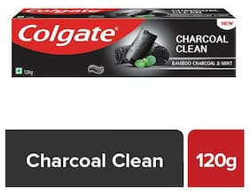 Colgate Charcoal Clean Black Gel Toothpaste - Bamboo Charcoal & Mint 120 g