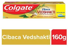 Colgate Cibaca Vedshakti Toothpaste With Toothbrush 160 g