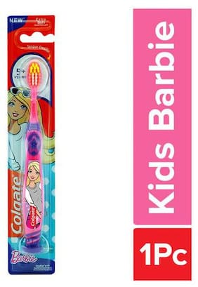 Colgate Kids Barbie Toothbrush - Extra Soft With Tongue Cleaner 1 pc