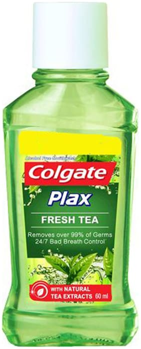 Colgate Mouthwash - Plax Fresh Tea Alcohol Free 60 ml