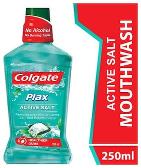 Colgate Mouthwash Plax Active Salt Alcohol Free Imported 250 ml