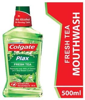 Colgate Mouthwash Plax Fresh Tea  Alcohol Free  Imported 500 Ml