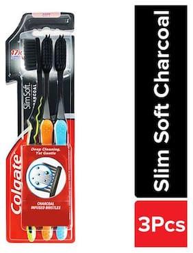Colgate Slim Soft Charcoal Toothbrush 3 pcs