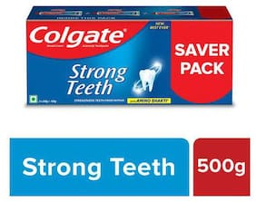 Colgate Strong Teeth Anticavity Toothpaste With Amino Shakti - Saver Pack 500 g
