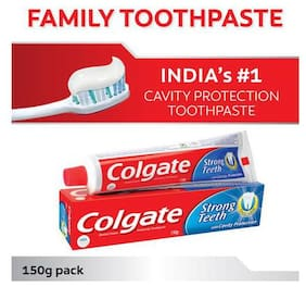 Colgate Toothpaste - Strong Teeth, Dental Cream, Anti Cavity 150 g