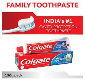 Colgate Toothpaste - Strong Teeth  Dental Cream  Anti Cavity 150 g