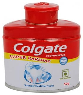 Colgate Toothpowder -  With Calcium & Minerals, Anti-Cavity 50 g