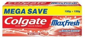 Colgate Toothpaste Maxfresh Spicy Red  Gel 150 + 150 g