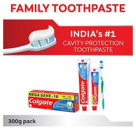 Colgate Toothpaste Strong Teeth  Dental Cream  Anti Cavity 300 g