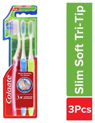 Colgate Toothbrush - SlimSoft, Tri-Tip 3 pcs