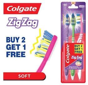Colgate Toothbrush - ZigZag  Soft Bristles 2 pcs