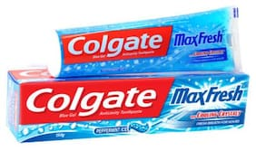 Colgate Toothpaste Maxfresh Blue Peppermint Ice  Gel 150 Gm
