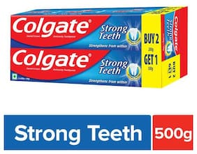 Colgate Toothpaste Strong Teeth 500 Gm