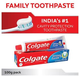 Colgate Toothpaste Strong Teeth  Dental Cream  Anti Cavity 100 g