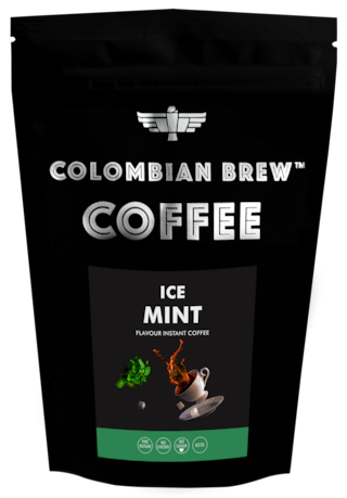 Colombian Brew Coffee Ice Mint Instant Coffee No Sugar Vegan 100g