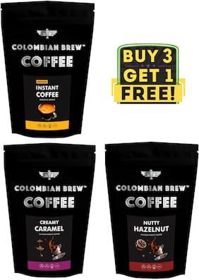 Colombian Brew Coffee Coffee Pure Instant 100g Hazelnut Instant 100g Caramel Instant 100g Buy 2 Get 1 Free