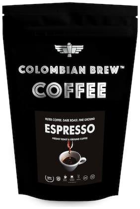 Colombian Brew Coffee Arabica Espresso Filter Coffee Roast & Ground Strong 250g