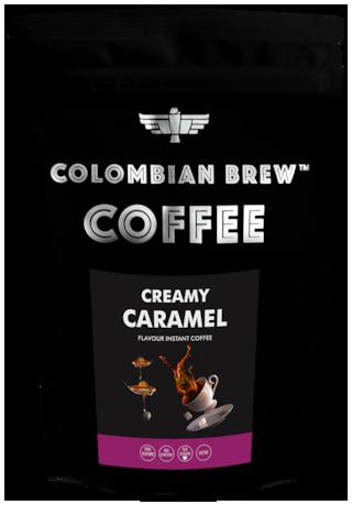 Colombian Brew Coffee Creamy Caramel Instant Coffee No Sugar Vegan 100g