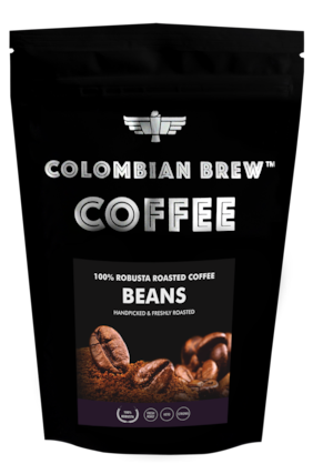 Colombian Brew Coffee 100% Robusta Roasted Coffee Beans 1kg