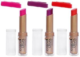 Color Diva Creamy Matte Lipstick Pack of 3 (4.5 g x 3)