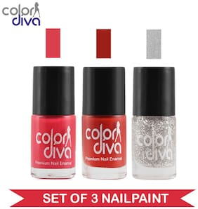 Color Diva - Maybe - Multicolor Nail Paint - NPCMB-1116 - (Set of 3) - 6 ml Each