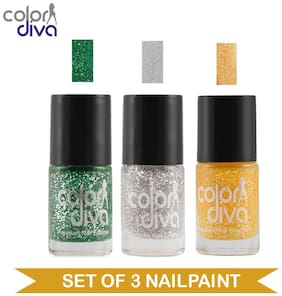 Color Diva - Maybe - Multicolor Nail Paint - NPCMB-1251 - (Set of 3) - 6 ml Each
