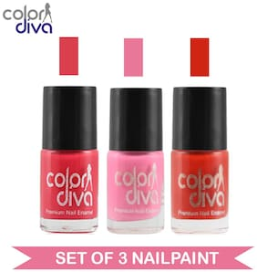 Color Diva - Maybe - Multicolor Nail Paint - NPCMB-1147 - (Set of 3) - 6 ml Each