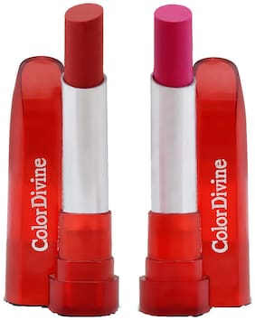 Color Divine Red and Pink Lipsticks (Pack of 2)