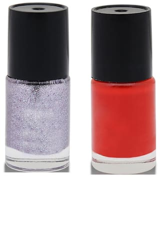 20ffd4dcd Buy Color Divine Silver and Red Nail paints Set Online at Low Prices ...