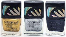 Color Fever Ultra Sparkle Nail Color - Pack Of 3