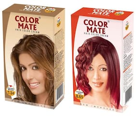 Color Mate Hair Color Cream Golden Brown + Golden Copper