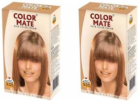 Color Mate Hair Color Cream Light Blonde 130 ml (Pack of 2)