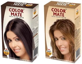 Color Mate Hair Color Cream Dark Brown + Golden Brown