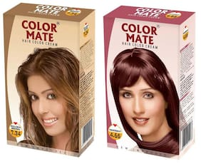 Color Mate Hair Color Cream Golden Brown + Mahogany