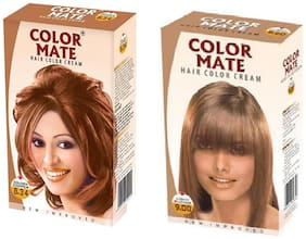 Color Mate Hair Color Cream Golden Copper + Light Blonde