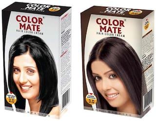 Color Mate Hair Color Cream Natural Black + Dark Brown