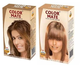 Color Mate Hair Color Cream Golden Brown + Light Blonde